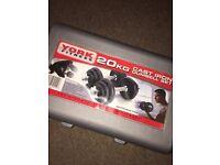 Cast Iron Dumbell Set - 20kg York Fitness