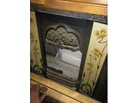 Victorian Style Cast Iron Gas Fireplace and Surround