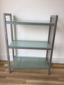 Glass & Metal Bookshelf
