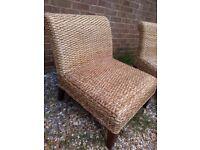 2 rattan chairs