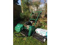 Suffolk Punch 14S Petrol Lawnmower c/w Scarifier