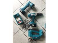 Makita Tool Set inc Jigsaw, Drill, Torch & Battery Charger