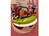 Mamas & papas raspberry snug seat & activity tray