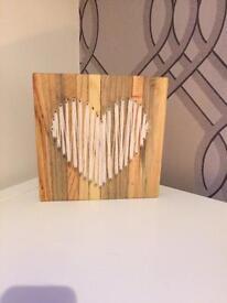 Wooden heart plaque (cream)