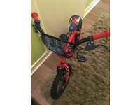 Boys Spider-Man bike, used once basically brand new