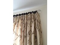 CURTAINS designer fabric, interlined, double pinch pleat. Handmade by interior designers