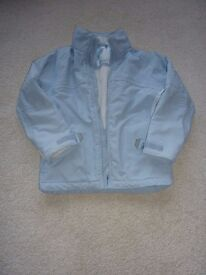 Dare2be Girls pale blue and white ski jacket age 7-8yrs.