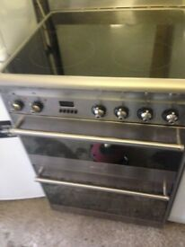 Smeg Stainless steel Electric ceramic cooker..60cm Mint