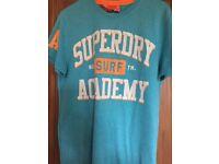 Superdry Blue Mens TShirt Size Medium