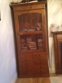 Large rosewood storage cupboard