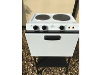 BABY BELLING 121R MK2 COOKER AND HOB, COMPLETE WITH FLOOR STAND.