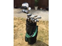 A Full Set Of HIPPO ITX2 Golf Clubs with Bag.