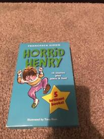 Horrid Henry book collection.
