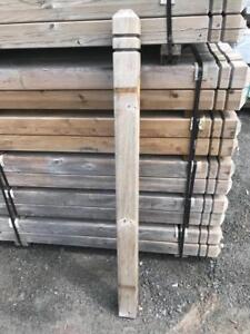 Poteau de balcon (galerie) en bois traité (neuf)