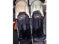 Side by side double buggy
