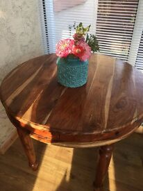 Circular Small Dining Table Lovely Shesham Wood