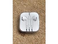 Apple in ear headphones.