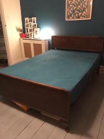 Vintage Edwardian Mahogany double bed
