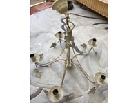 REDUCED **Vintage /Laura Ashley Shabby chic chandelier ceiling light