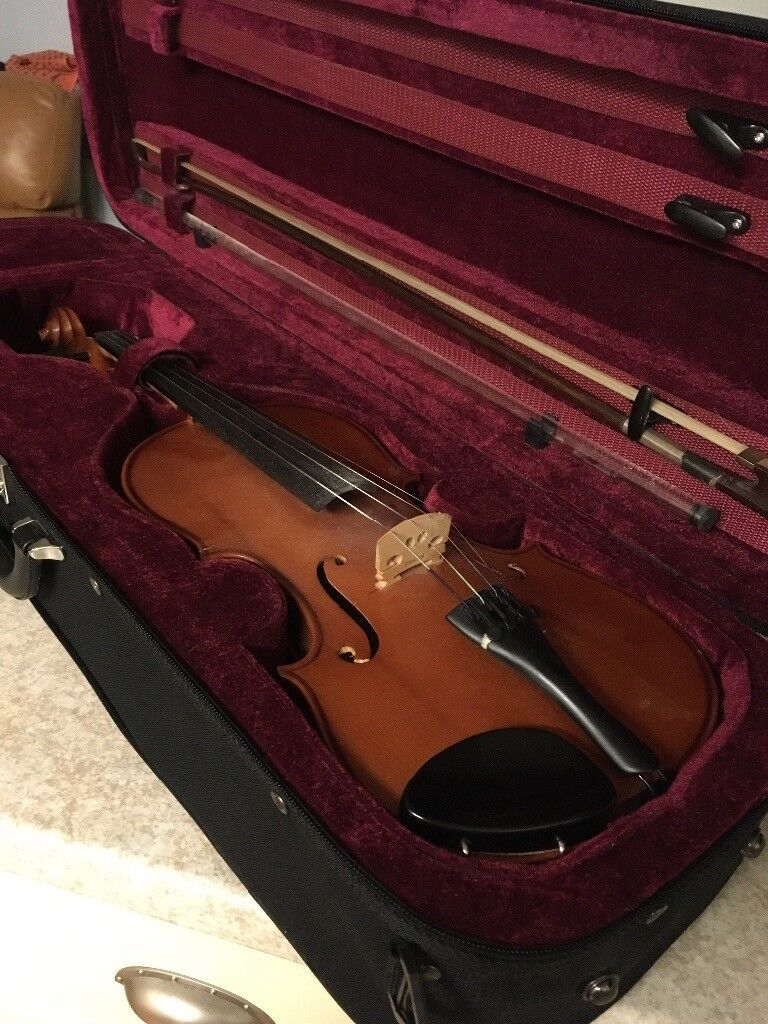 Adult violin, bow and case