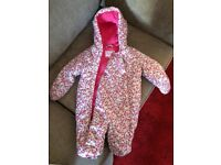 Baby girl Snowsuit £5