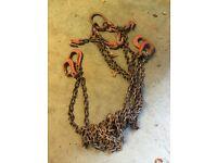 Adjustable 4 hook chain sling