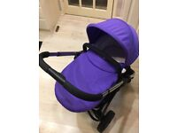ICandy Strawberry 2 Pram/Pushchair in Prism (purple) with additional flavour pack in Smoothie (pink)
