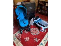iCandy Strawberry 2 with black chassis - Pacific blue - comes with Maxi cosy Car seat