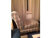 Single tartan chair