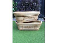 Two long Garden Pots