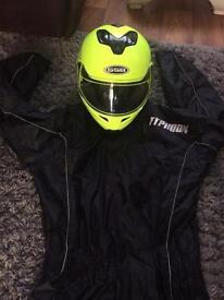 Helmet & waterproofs