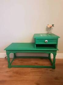 Emerald green telephone table