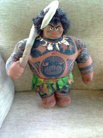 """Disney Maui Medium Soft Toy Doll 39cm from """"Moana"""" animated movie"""