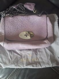 mullberry bag genuine lilac colour