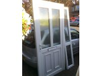 Upvc door with side panel like new can deliver