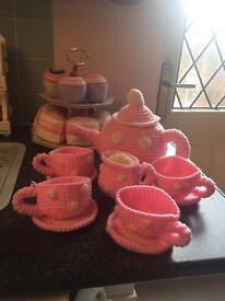 Laura Ashley knitted tea set