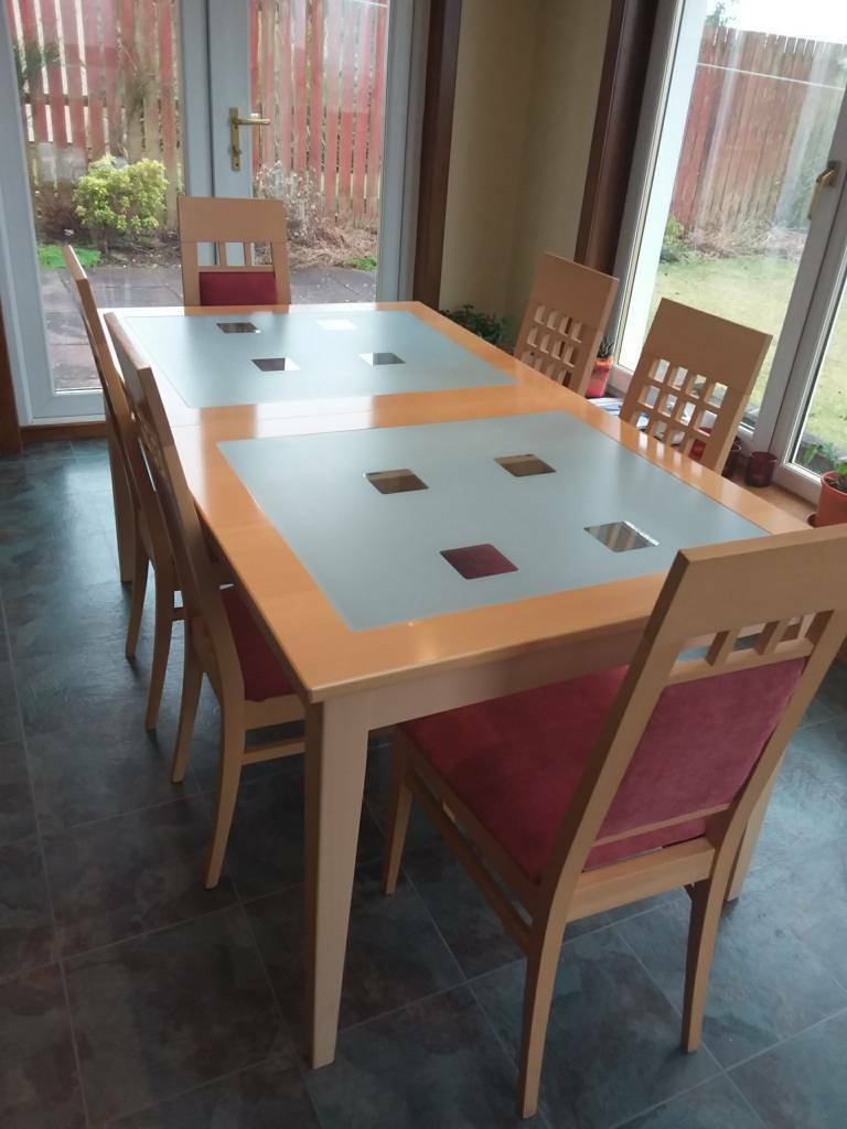 Extendable Kitchen Dining Table With 6 Chairs John E Coyle