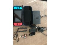 Nintendo switch bundle 3 games!!