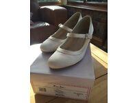 Ivory satin shoes