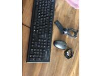 Keyboard webcam and a mouse