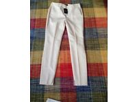 Next cream trousers