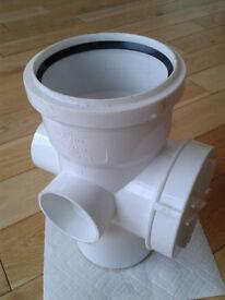 Access Boss for 110mm white soil pipe