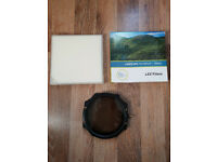 Lee 105mm Landscape Polariser with Box, Pouch, Lee Holder and front holder ring.