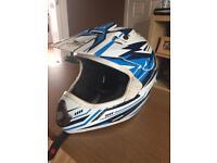 The motocross helmet.