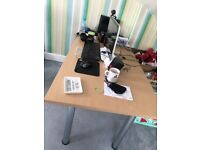 Sturdy large wooden desk