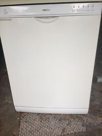 White Proline dishwasher