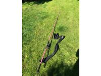 NGT pink carp rod. 12ft with Drennam reel