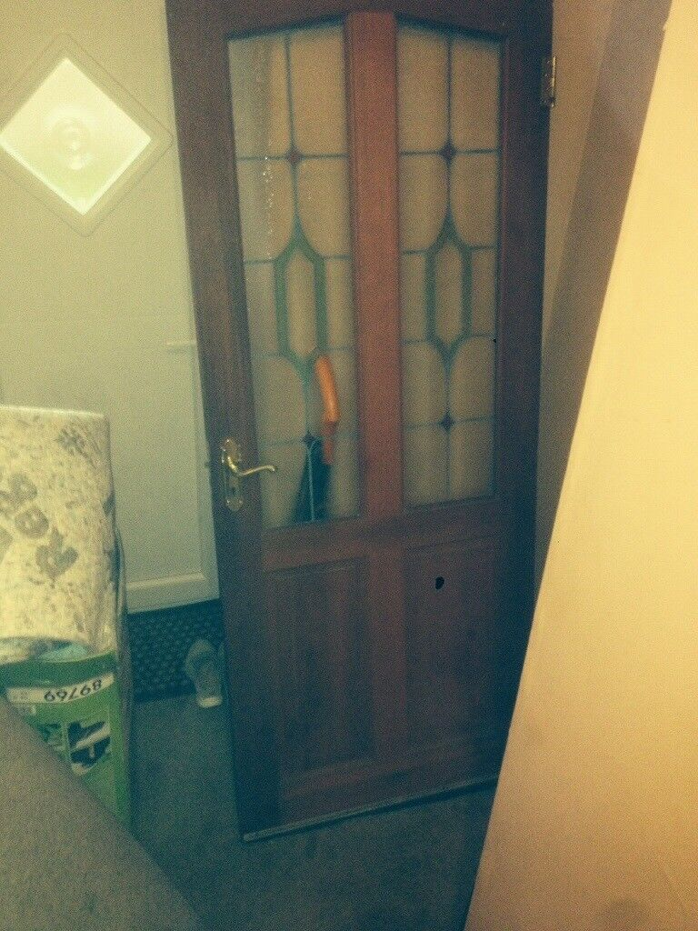 Interior Door With Stain Glass Panels In East End Glasgow Gumtree