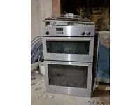 Neff stainless integrated double oven