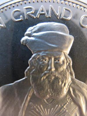 7/8-OZ RARE ALBERT PIKE FREEMASON GRAND COMMANDER MASONIC COIN SILVER.925 + GOLD